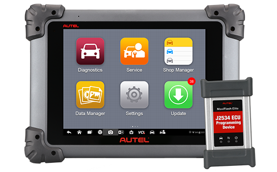 How to reset the tablet in Autel diagnostic devices?